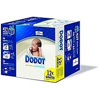 Dodot Sensitive Toallitas con caja dispensadora + pañales talla 1, 28 pañales, 2-5 kg + pañales talla 2, 68 pañales, 4-8 kg, 54 toallitas