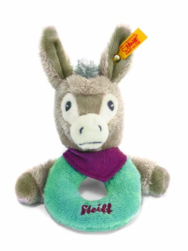Steiff-Issy-Donkey-Grip-Toy-with-Rattle-Multicoloured-12cm