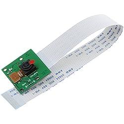 MagiDeal Módulo de Cable Vídeo 1080p Cámara Con Sensor 5 Megapíxeles CCTV Cámara de Seguridad para Raspberry Pi A/B/B+, Pi 1 2 3