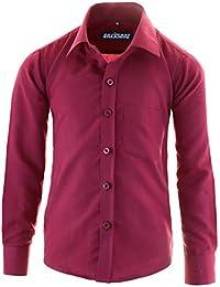 e76a01bff3665c GILLSONZ GA1 vDa Kinder Party Hemd Freizeit Hemd bügelleicht Lange Arm mit  11 Farben Gr.