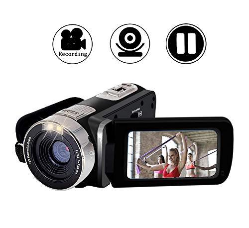 Camcorder Videokamera Full HD 1080p 24.0 MP Camcorder Digitalkamera 16X Digitalzoom 2,7 Zoll LCD 270 Grad Bildschirm drehen Digital Camcorder