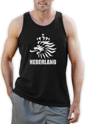Niederländische Fußball Tank Top Schwarz