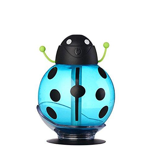 YL Luz Nocturna Mini Humidificador Usb Energía Aire Purificador Coche Humidificador de la Niebla,Azul