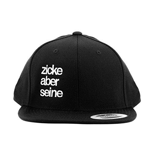 *Snapback ZICKE ABER SEINE – ALL BLACK – PARTNER SNAPBACK – PARTNER CAP- STATEMENT SNAPBACK – SCHWARZ – ABGEFUCKT ABER SENSIBEL – STYLECOVER*