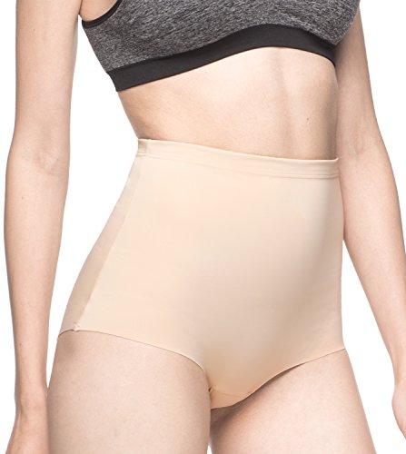 LAPASA Shapewear Mutande Contenitivo Invisibile Fascia Elastica da Donna L12 (S(Vita 68.5-71 cm/Fianchi 94-96.5 cm), Rosa Carne)