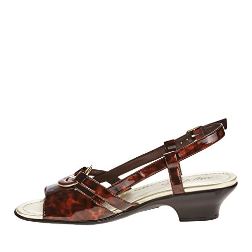 Easy Street Tempe Femmes Synthétique Sandales Tortoise