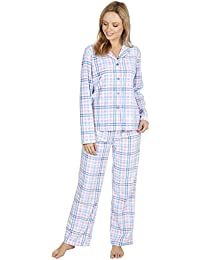 209f933f5f Best Deals Direct Ladies Check Print Long Sleeve Fleece Pyjamas Thermal  Lounge Wear