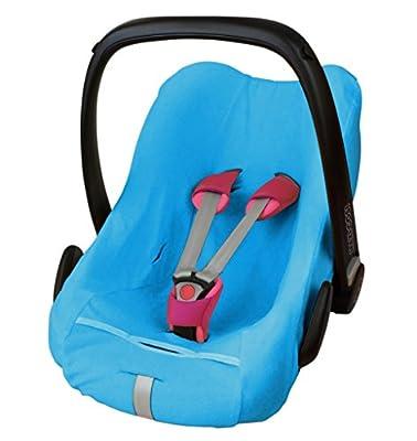 ByBoom® - Funda de verano / funda hecha de tela de toalla, funda universal para portabebés (Moisés), asiento de coche, por ejemplo, Maxi-Cosi CabrioFix, Pebble, City SPS