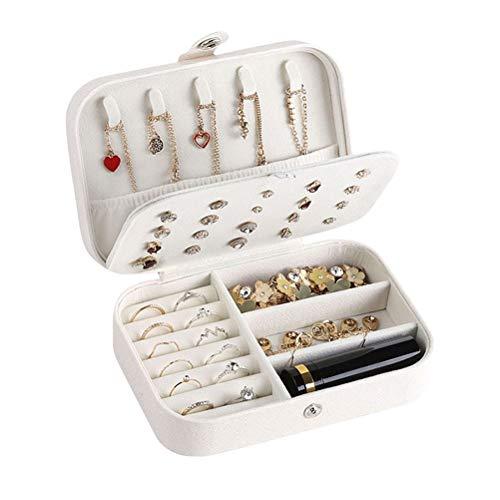 Preisvergleich Produktbild VHFIStj Schmuckkästchen verschließbare Schmuckkasten Schmuckbox PU-Leder Schmuck-Organizer Reise Schmuckschatulle für Mädchen Frauen