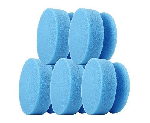 CLEANOFANT Polier-MAUS BLAU-medium - 5 Stück - Hand-Polierpad Reinigungsschwamm Applikationsschwamm - für Wohnwagen, Wohnmobil, Caravan. Zum Reinigen mit Reiniger, Polieren mit Politur