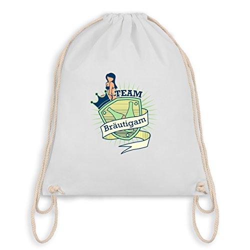JGA Junggesellenabschied - Team Bräutigam Schild - Turnbeutel I Gym Bag Weiß