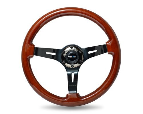 nrg-steering-wheel-classic-woodgrain-350mm-1378-inches-brown-wood-with-black-chrome-spokes-3-inch-de