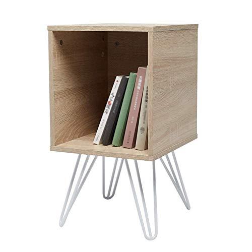 HYLH Side Table Desk End Bedside Snack Coffee Bistro Small Bookcase Landing Bookshelf Low Cabinet Locker Simple Storage Box (Color : Oak Color, Size : 32.5 * 35 * 59) - Bistro Base