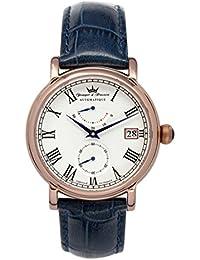 Yonger & Bresson YBH 8356-04 VS - Reloj de pulsera hombre, piel, color azul