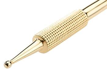 Remos - Bâton d'acupression - laiton - 10cm - diamètre 2,5mm / 4.5mm