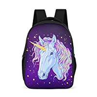 Charzee Unicorn Pattern School Backpack Daypack Mini Cute Backpack Teenager Youth Leisure Backpack for School Leisure Side Pockets
