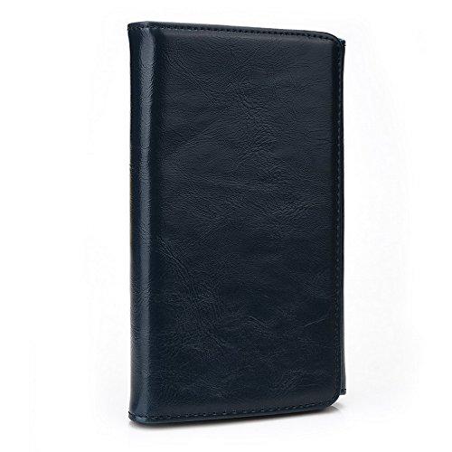Kroo Portefeuille unisexe avec Yezz ANDY AZ4.5/4,5m universel différentes couleurs disponibles avec affichage écran Bleu - bleu Bleu - bleu