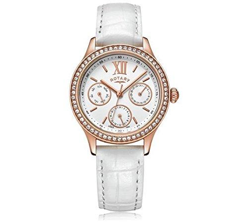 Rotary - Reloj de Pulsera para Mujer, Chapado en Oro Rosa