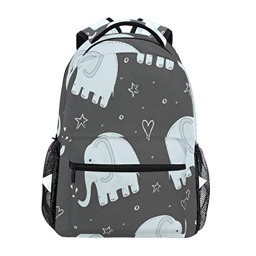 Divertido Elefante Azul Mochila Escolar para niños niñas niños Bolsa de Viaje Bookbag