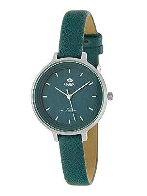 Reloj Marea Analógico para Mujer B41227/13 con Correa de Piel Verde Oscuro