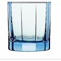 DZXYA Ensemble de 6 verre de whisky couleur créatif de la cuvette d'eau le verre de Whisky Whisky Whisky multifonction pichet en verre de whisky verres, bleu