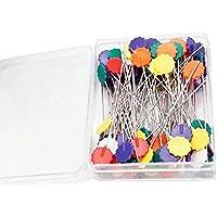 Manual de flor NiceButy 100 piezas de costura Las agujas de acero Pin Patch costura DIY fijos Herramientas y decoraciones en color clavija de posicionamiento accesorios para el hogar
