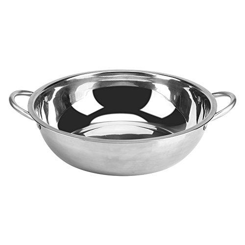 Yosoo 30 cm stainless steel Hot Pot piano cottura a induzione, pentola per cottura a vapore Shabu Shabu Hot Pot Induction cooker Kitchen Cookware pentole