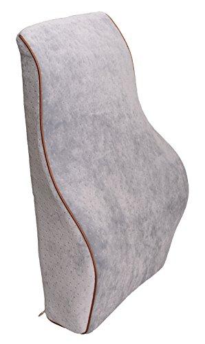 Grey Colour Contoured Car Memory Foam Seat Chair Lumbar Back Support Cushion Pillow. Car Accessories