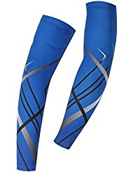 Spoz Pro Outdoor Sport Blue Breathable Arm Sleeves Armlinge