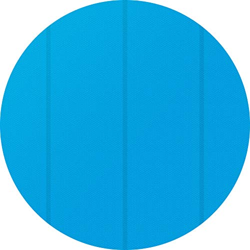 TecTake 800712 Bâche à Bulles Piscine Ronde de Protection, Adaptable à la Taille souhaitée, Bleu - Plusieurs modèles - (4,88 m | no. 403110)