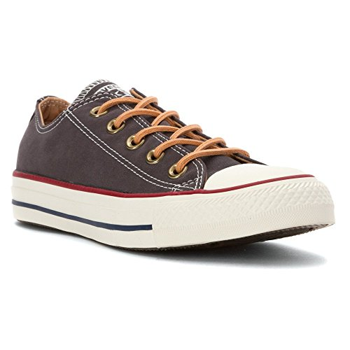 Converse Mens Chuck Taylor All Star Peached Canvas Oxford Fashion Sneaker, Almost Black, 5 - Chuck Taylor All Star Oxford