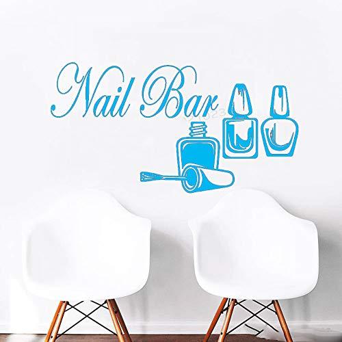 xingbuxin Wandtattoo Kreative Nägel Salon Wandaufkleber Nagel Bar Mädchen Beauty Spa Maniküre Kunstwand Polish Pedicure Decor 3 108x57 cm -