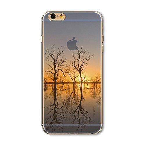 Coque iPhone 6 6s Housse étui-Case Transparent Liquid Crystal en TPU Silicone Clair,Protection Ultra Mince Premium,Coque Prime pour iPhone 6 6s-Paysage-style 26 21