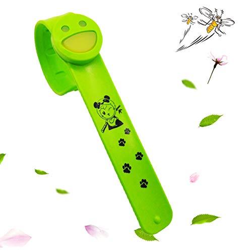 Hilai Mückenschutz Armband Mit 6 Nachfüllpads Natürliche Anti Bug Repellent Bands Für Kinder & Erwachsene Outdoor Reise Wandern (grün Smiley) (Mückenschutz-lotion Kids)