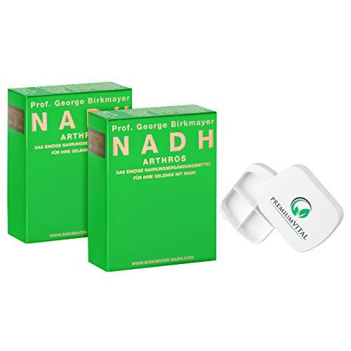 2x Prof. George Birkmayer NADH - Arthros (60 Kapseln, 20 mg NADH/Coenzym 1 pro Tablette) - Vorteilsangebot + GRATIS Pillendose von Premiumvital -