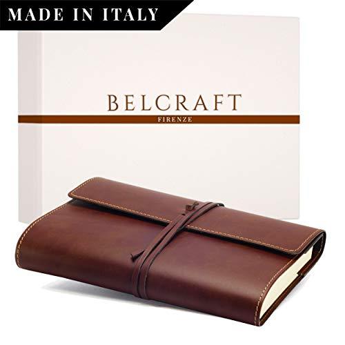 Vietri Classico Diario in Pelle riciclata, Elegante Pensiero con Scatola Regalo, Realizzato a mano da Artigiani Toscani, A5 (15x21 cm) Marrone