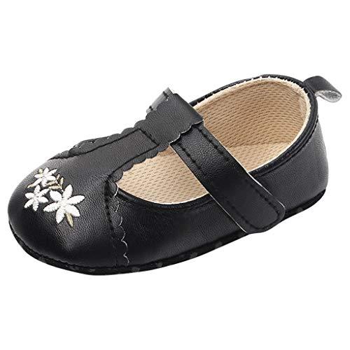 WEXCV Kleinkind Baby Mädchen Kinder Stickerei Einzelne Schuhe Weiche Sohle Prinzessin Schuhe Herbst Nette Freizeitschuhe Lauflernschuhe Outdoorsandalen