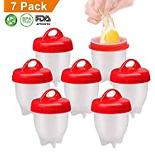 AMEU Cuecehuevos, Silicona Egg Cooker Cocer Huevos, 7 PCS Cocedor Huevos Salud Y Seguro