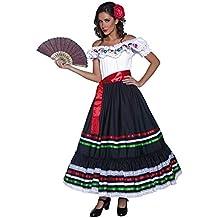 Smiffy S 34449S Disfraz De Señorita Sexy Del Oeste Auténtico Con Vestido Y  Banda fb153df4275