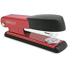 Rapesco - Grapadora metálica Bowfin, 25 hojas de capacidad, usa grapas 26 y 24/6 mm, color Rojo