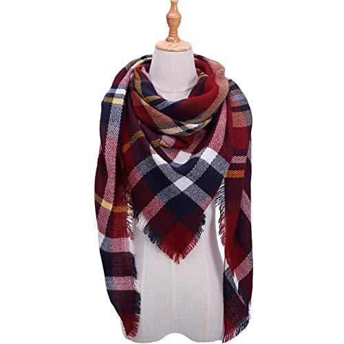 YOOMAT Triángulo mujer bufanda bufanda tela escocesa