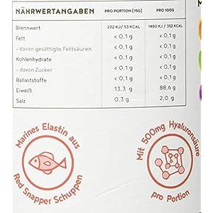 Kollagen mit Elastin und Hyaluronsäure   Kollagen Hydrolysat Peptide Type I, II und III   Ohne Zusatzstoffe   Geschmacksneutral   450 Gramm
