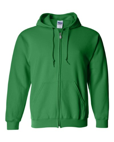 Gildan - Kapuzen-Sweatjacke 'Heavyweight Full Zip' / Irish Green, S -