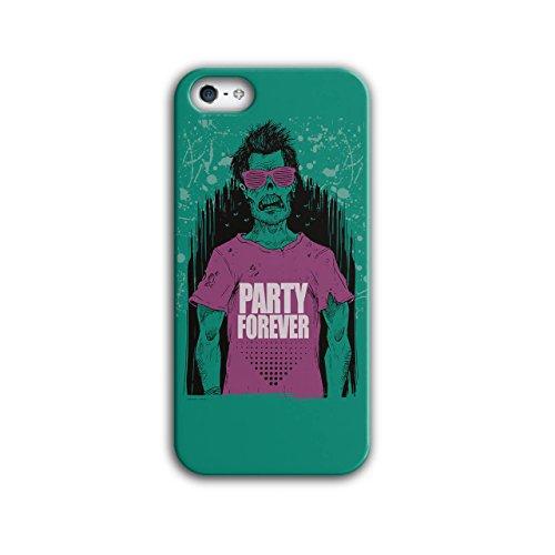 Wellcoda Party Für Immer Hülle für iPhone 5 / 5S Zombie Rutschfeste Hülle - Slim Fit, komfortabler Griff, Schutzhülle