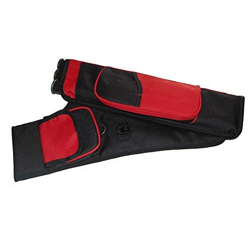 Bogenschießen Pfeile Köcher, mit verstellbarem Tragegurt, Sportlich und Robust - 3 Röhre Design, 18 Pfeile halten Rot
