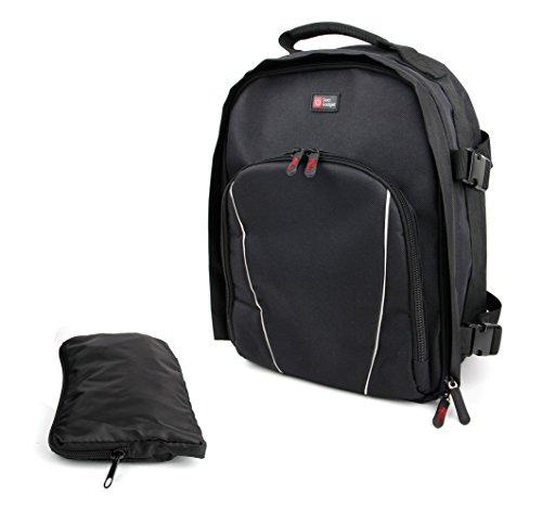 Preisvergleich Produktbild Schwarzer Rucksack mit Regenschutz für Ihre Spielkonsole Nintendo Switch und Zubehör
