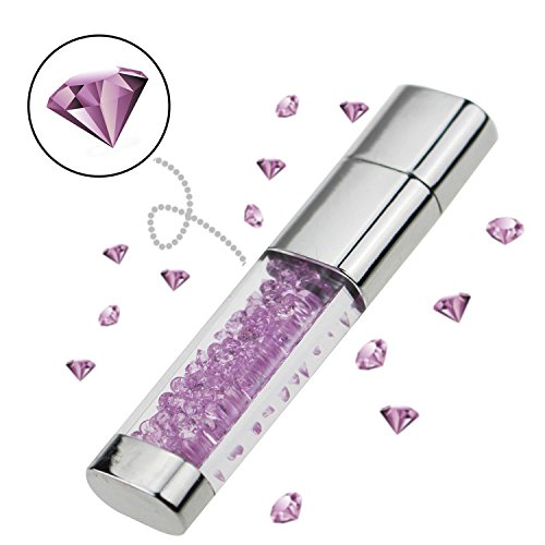 Schmuck Diamant Kristall USB Flash Drive für Mädchen, USB-Speicher Pen Drive Memory Stick Thrum Drive U Disk, Bilderrahmen Verpackung violett violett 4 gb