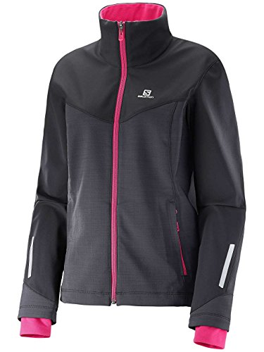 Salomon Pulse Softshell-Jacke Jkt W black/yarrow pink