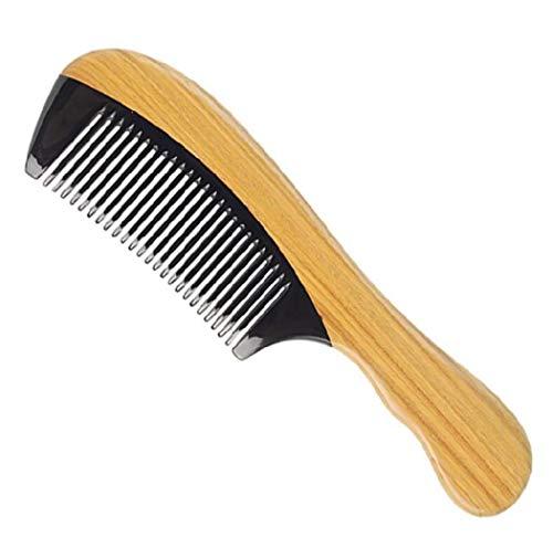 YANFAMING Peigne à Cheveux - Massage Health Care Peignes à Base de Corne de Buffle Naturelle - pour Cheveux bouclés épais ou Fins, Anti-Statique Réduit Les ruptures de Cheveux