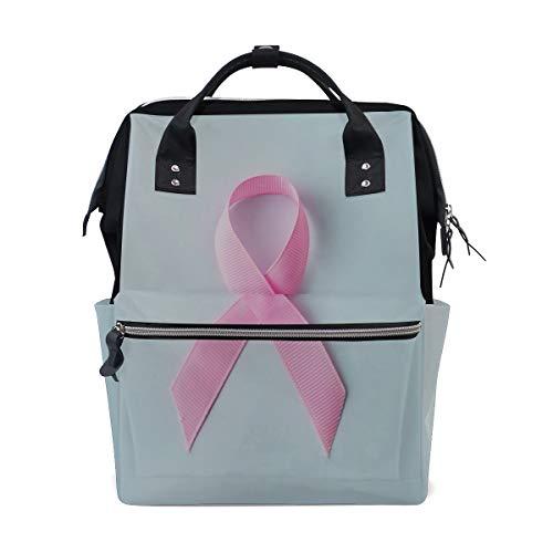 Pink Ribbon Breast Cancer Awareness Wickeltaschen mit großer Kapazität Mumienrucksack Multifunktionen Wickeltasche Tote Handtasche Für Kinder Babypflege Reisen Täglich Frauen -